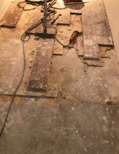 Versleten houten parketvloer repareren
