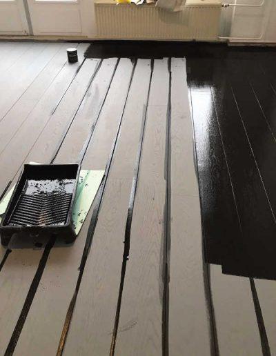 Plankenvloer lakken