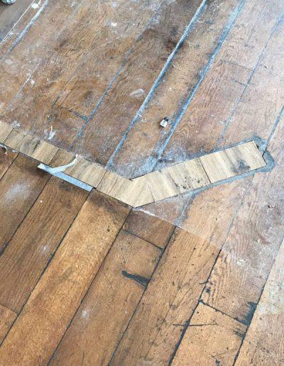 parketvloer uitbreiden en nieuwe stukken aanhelen