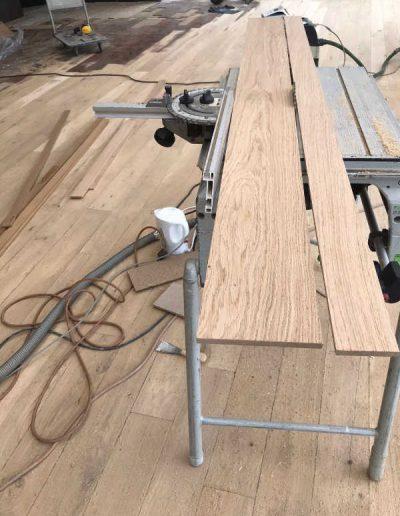 Parketvloer planken op maat maken en leggen